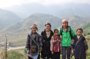 My unexpected trekking companions, the Black H'mong minority in Sapa, Northern Vietnam