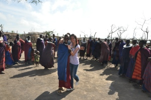 Dancing with the Maasai women- Tanzania