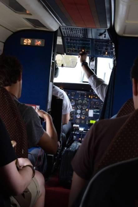 Lukla cockpit